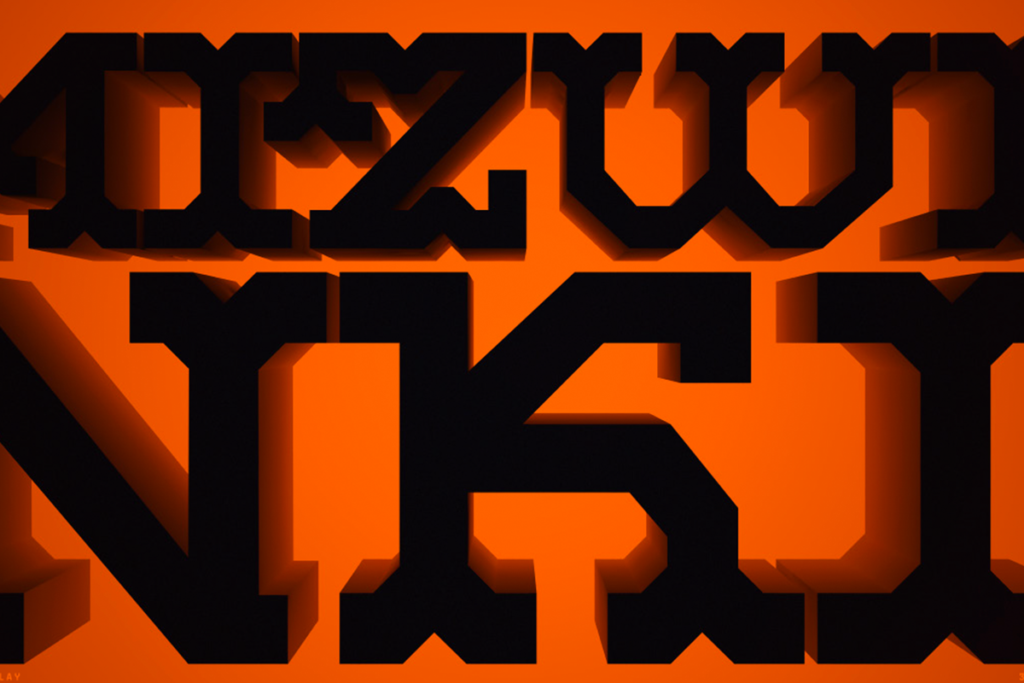 Mizwinki Display Font Preview