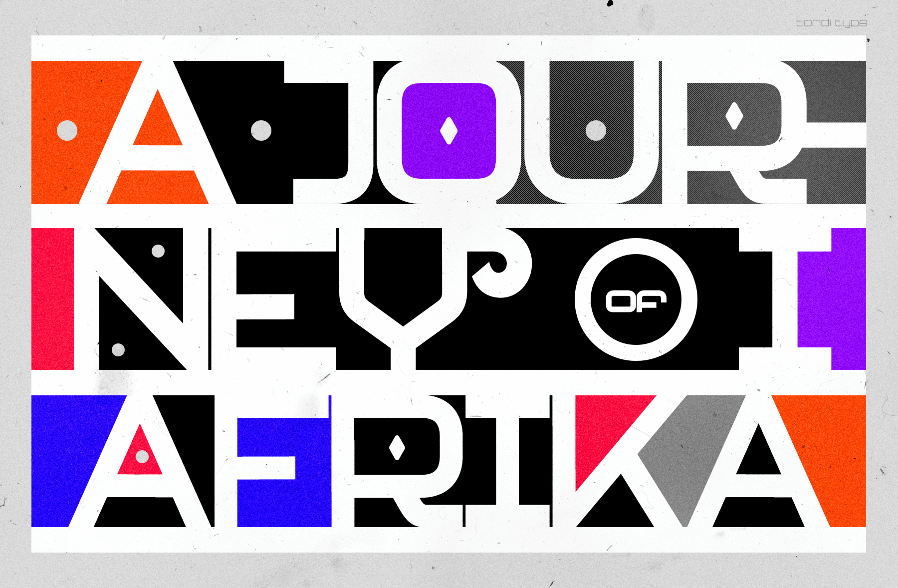 Neo Afrique Font Family In Use
